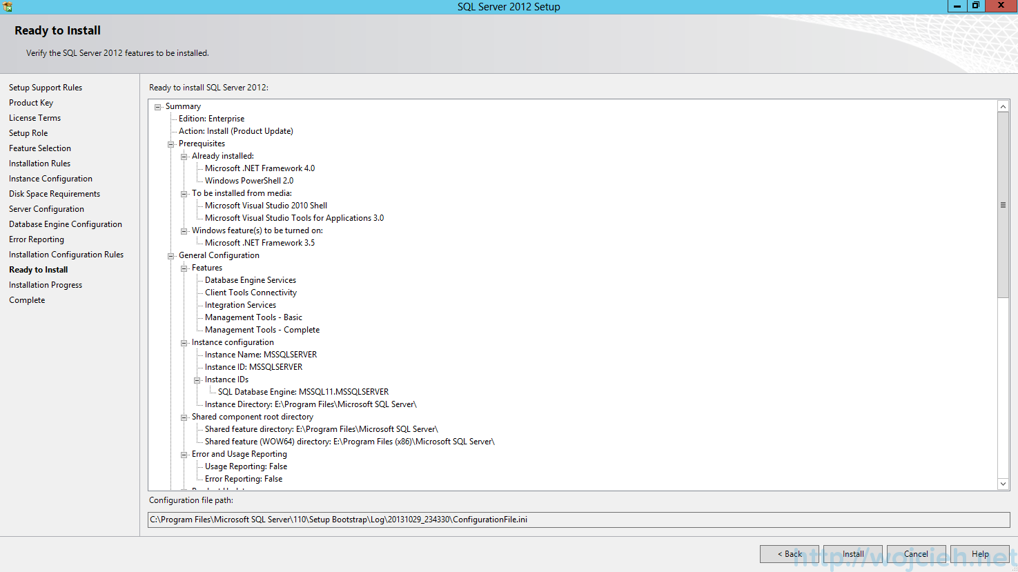 Vcenter server 55 on sql server 2012 installation part 1 sql server 2012 sp1 ready to install sciox Choice Image