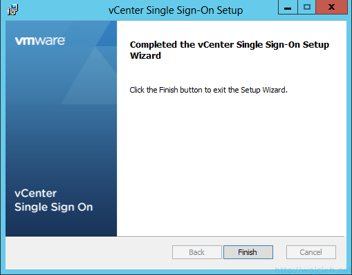 vCenter Single Sign-On Installation 11