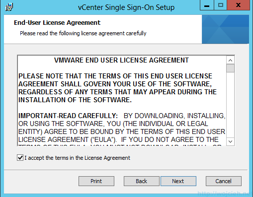 vCenter Single Sign-On Installation 3