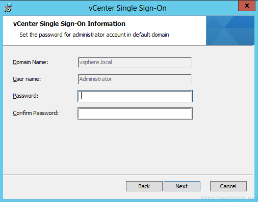 vCenter Single Sign-On Installation 6