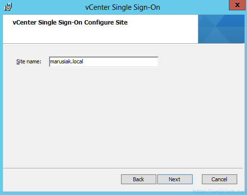 vCenter Single Sign-On Installation 7