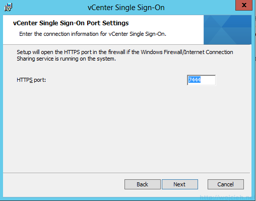 vCenter Single Sign-On Installation 8