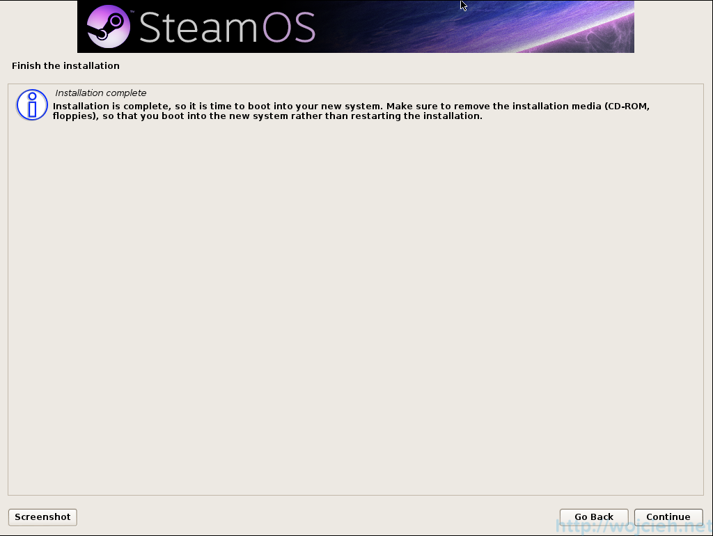 SteamOS Installation 3