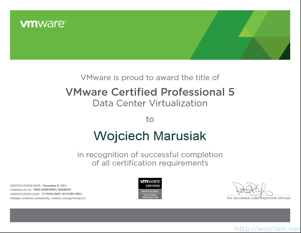 Vmware certified professional 5 data center virtualization passed vmware certified professional 5 data center virtualization certificate malvernweather Choice Image