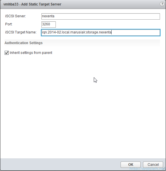 iSCSI Software Adapter configuration 6