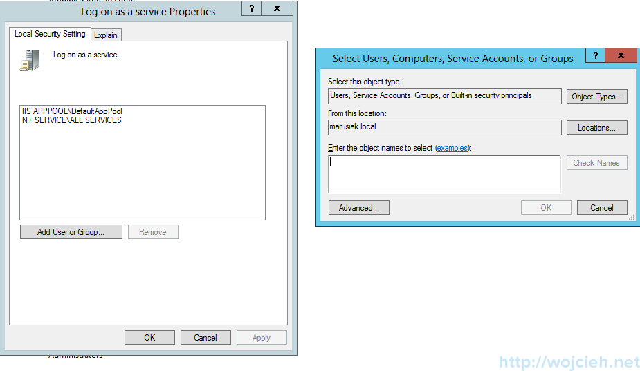 How to create application user in Active Directory - 2