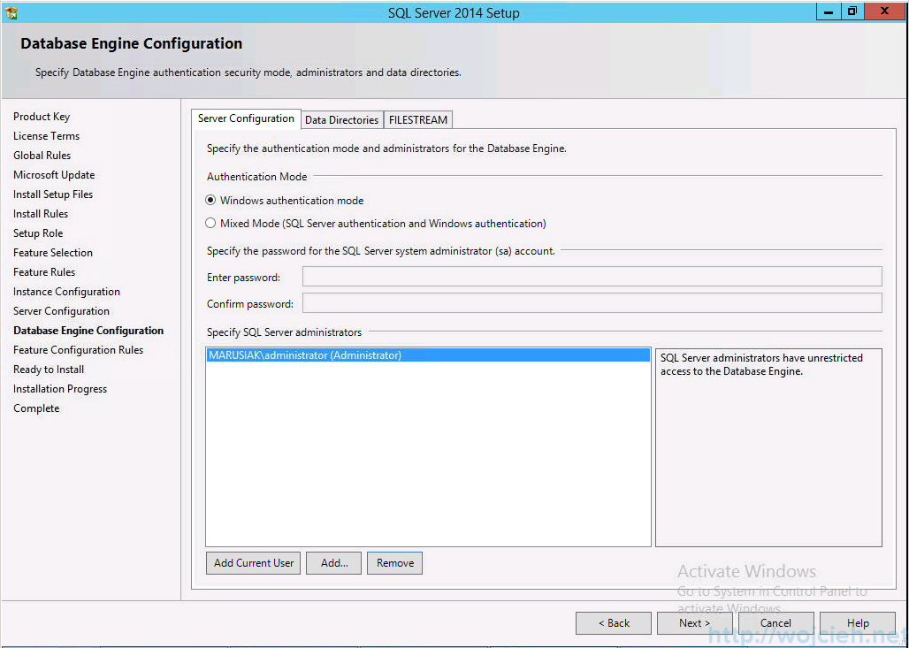 vCenter 5.5 on Windows Server 2012 R2 with SQL Server 2014 - 15