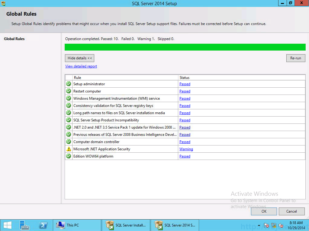 vCenter 5.5 on Windows Server 2012 R2 with SQL Server 2014 - 2