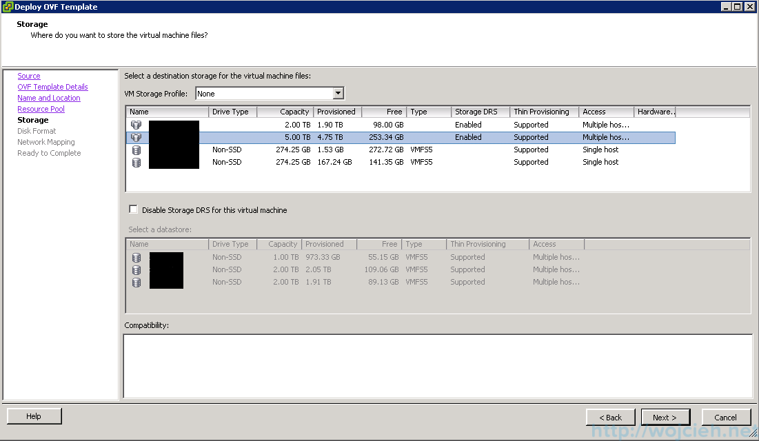 Deploying OVF template using vSphere Client and vSphere Web Client