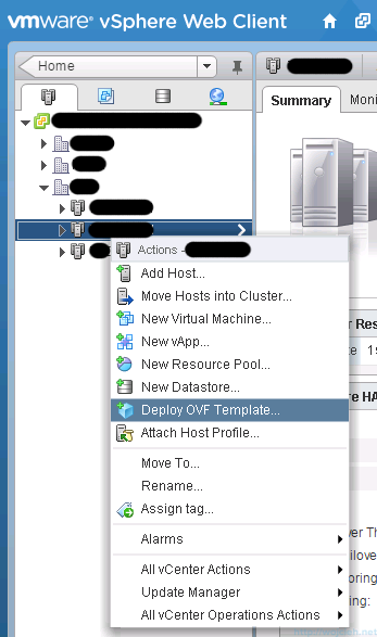 Deploying OVF template using vSphere Web Client - 3