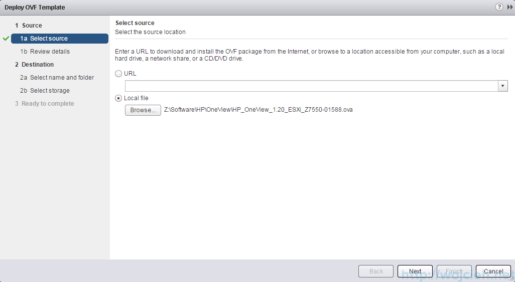 Deploying OVF template using vSphere Web Client - 4