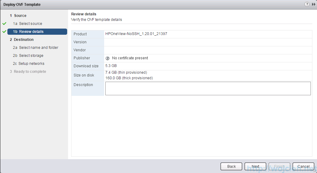 Deploying OVF template using vSphere Web Client - 5
