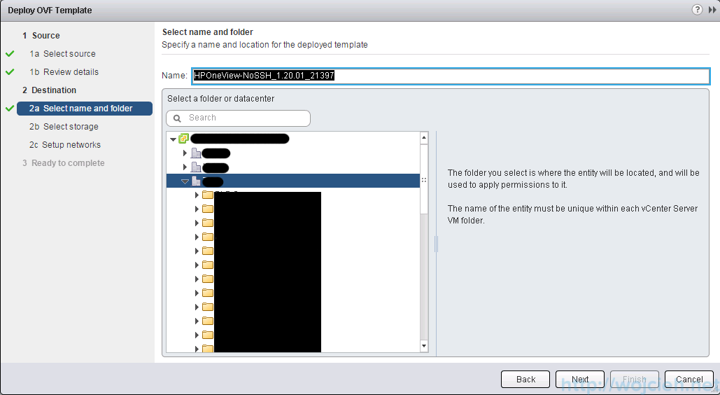 Deploying OVF template using vSphere Web Client - 6