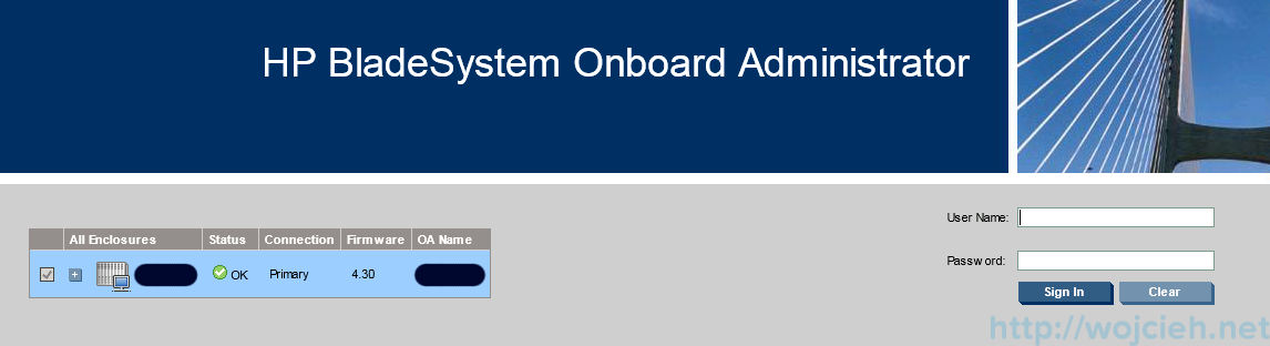 HP c7000 Onboard Administrator firmware update