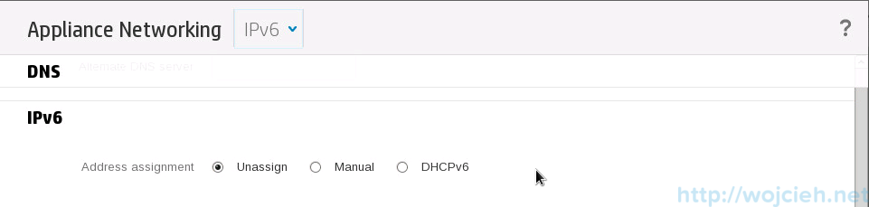 HP OneView configuration -  IPv6