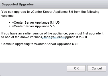 Upgrade vCenter Server Appliance from version 5 to version 6 - 2