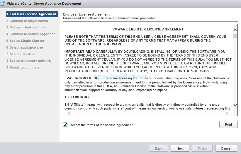 Upgrade vCenter Server Appliance from version 5 to version 6 - 3