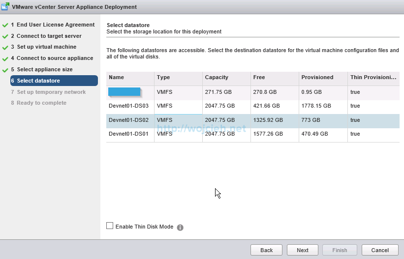 Upgrade vCenter Server Appliance from version 5 to version 6 - 11