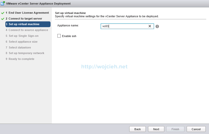 Upgrade vCenter Server Appliance from version 5 to version 6 - 6