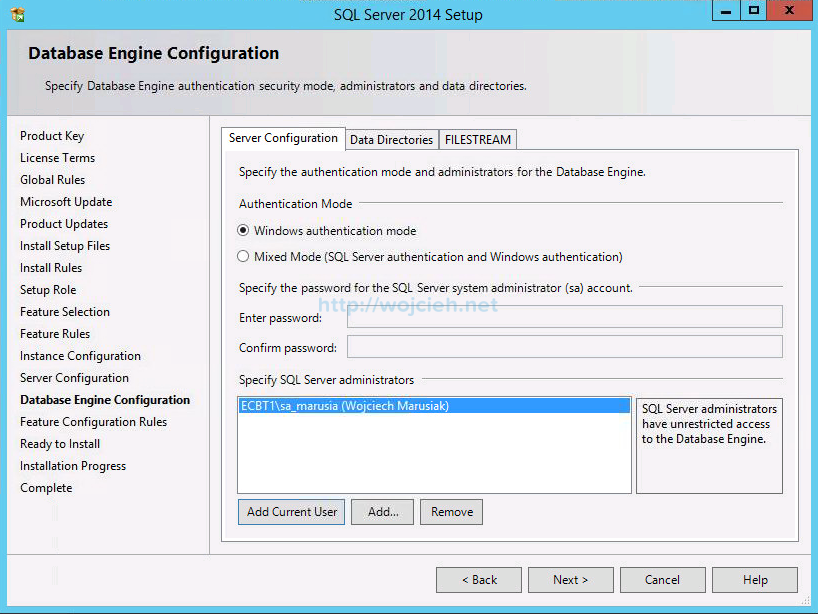 VMware vCenter Server 6 on Windows Server 2012 R2 with Microsoft SQL Server 2014 - 13
