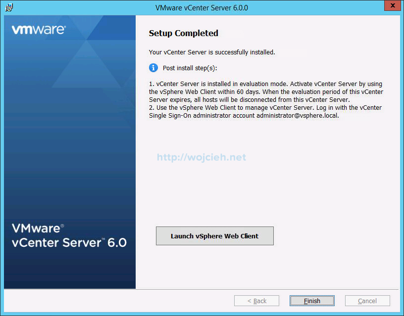VMware vCenter Server 6 on Windows Server 2012 R2 with Microsoft SQL Server 2014 - Part 3 - 13