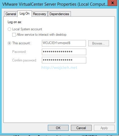 Change Windows Service Log on As User from MSA gMSA to normal account - 1