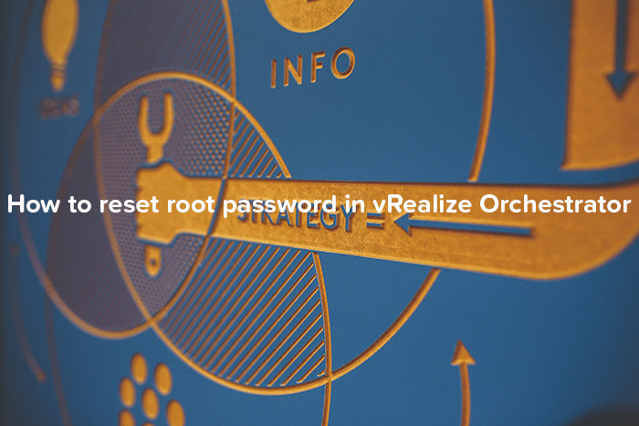 How to reset root password in vRealize Orchestrator - logo