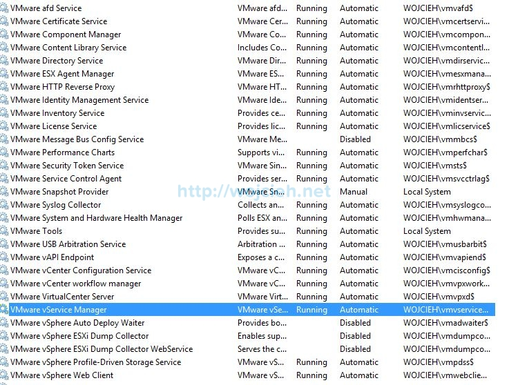 How to use Managed Service Accounts with vCenter Server - 6