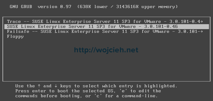 Securing VMware appliance GRUB - 7