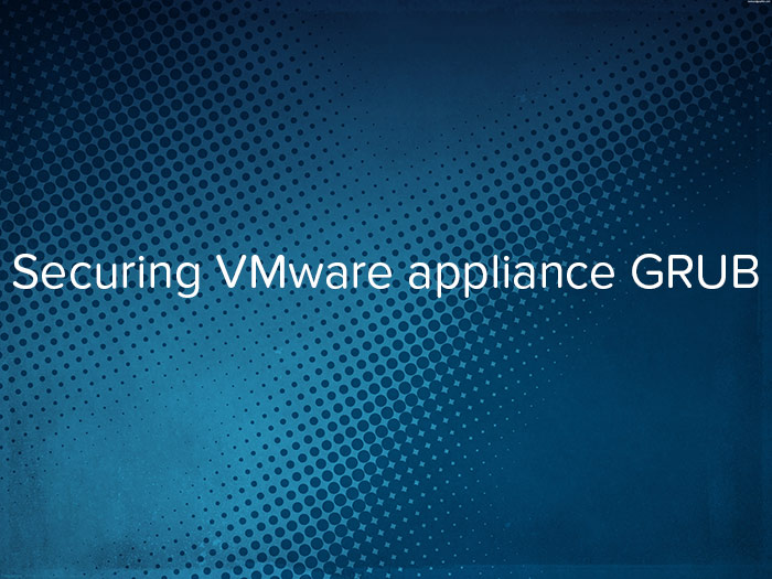 Securing VMware appliance GRUB - logo