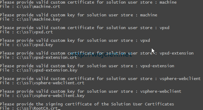 vCenter Server 6. - Replacing SSL certificates with custom VMCA - 12