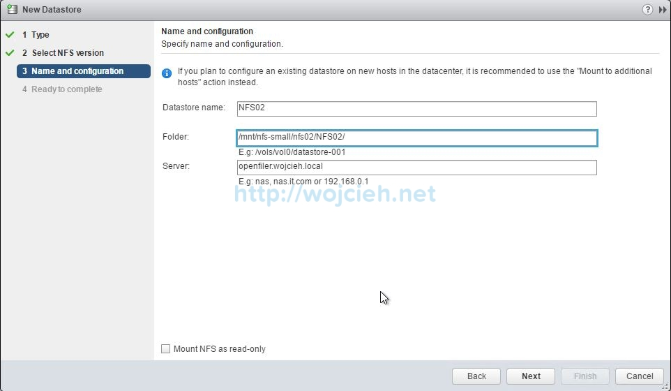 How to add NFS export to VMware ESXi 6.5 - 4