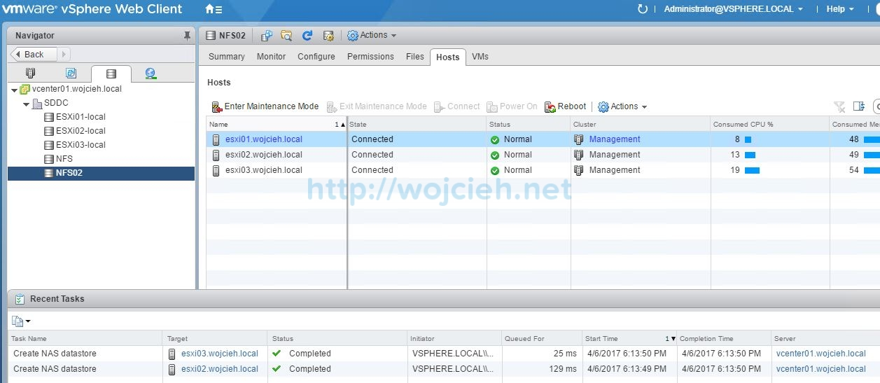 How to add NFS export to VMware ESXi 6.5 - 9
