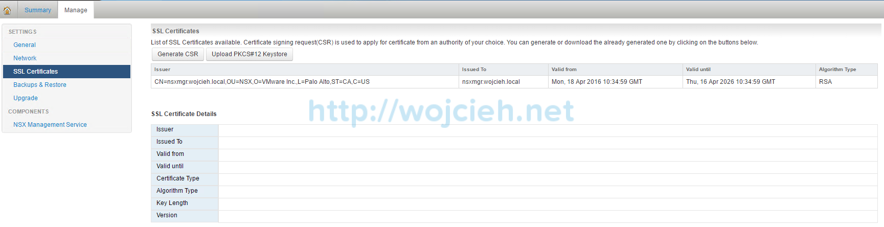 How to replace NSX Manager SSL Certificate - 2