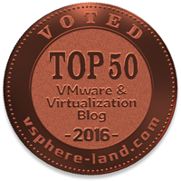 Voted 50 Top vBlog 2016