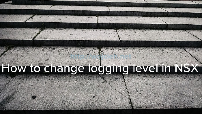 How to change logging level in NSX - Logo