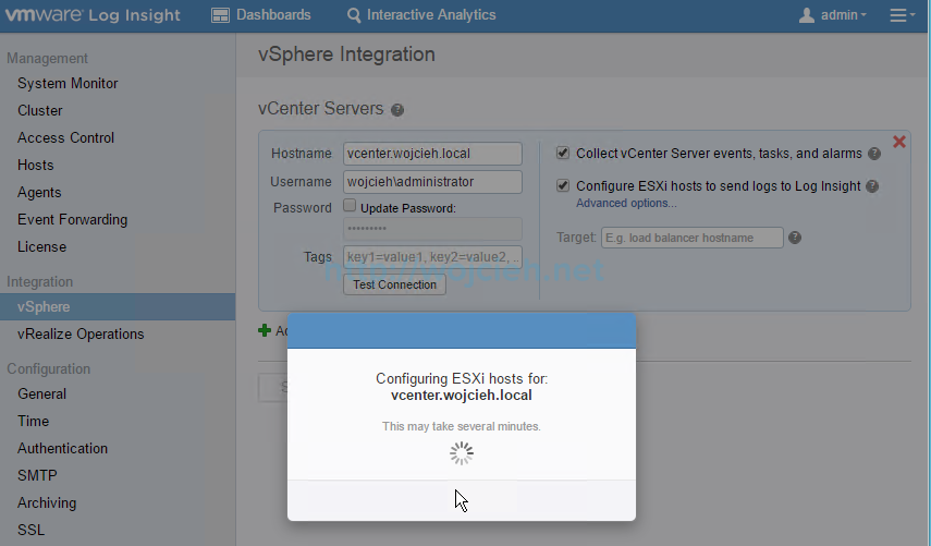 VMware vRealize Log Insight - Installation and Configuration - 20