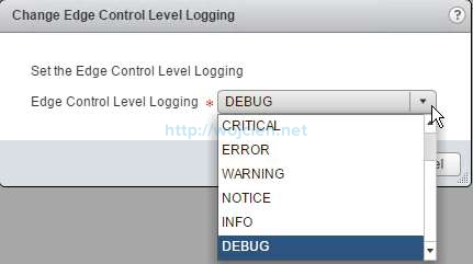 How to change logging level in NSX - 8