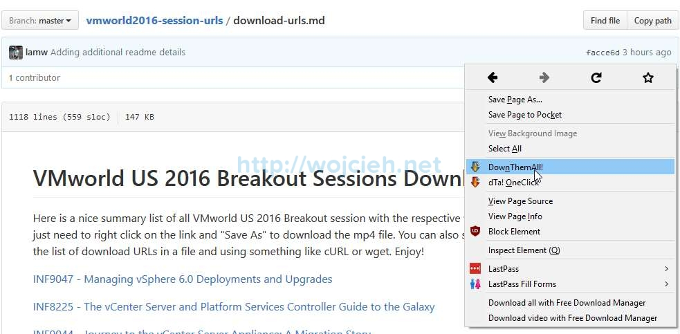 How to download all VMworld 2016 US sessions - 1