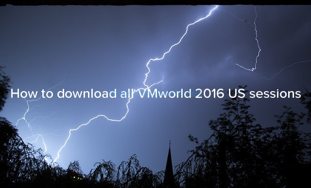 How to download all VMworld 2016 US sessions - Logo