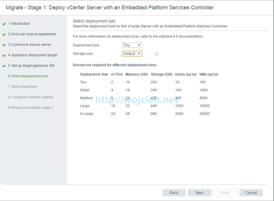 Upgrade of vCenter Server 6.x to vCenter Server 6.5 - 10