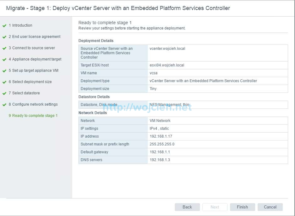Upgrade of vCenter Server 6.x to vCenter Server 6.5 - 13