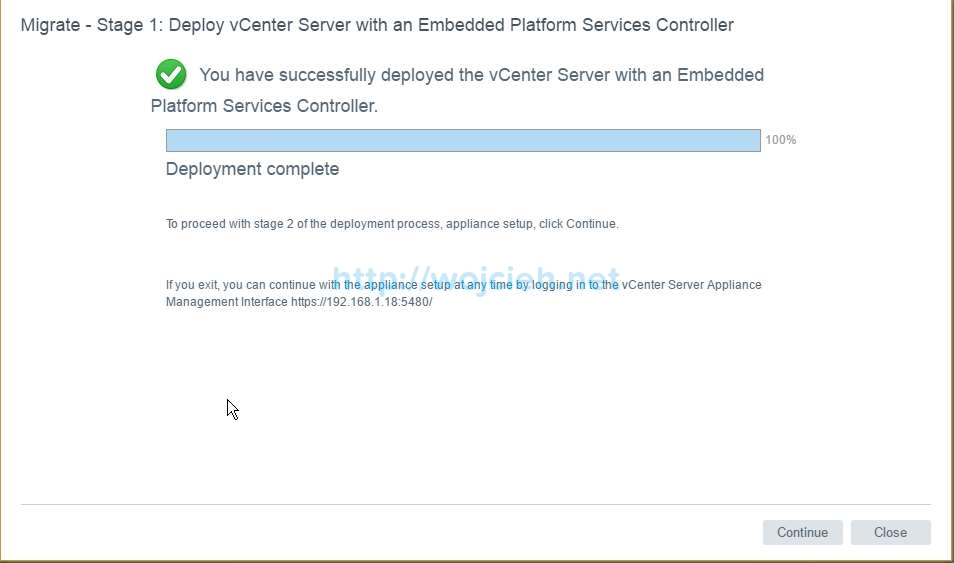 Upgrade of vCenter Server 6.x to vCenter Server 6.5 - 16