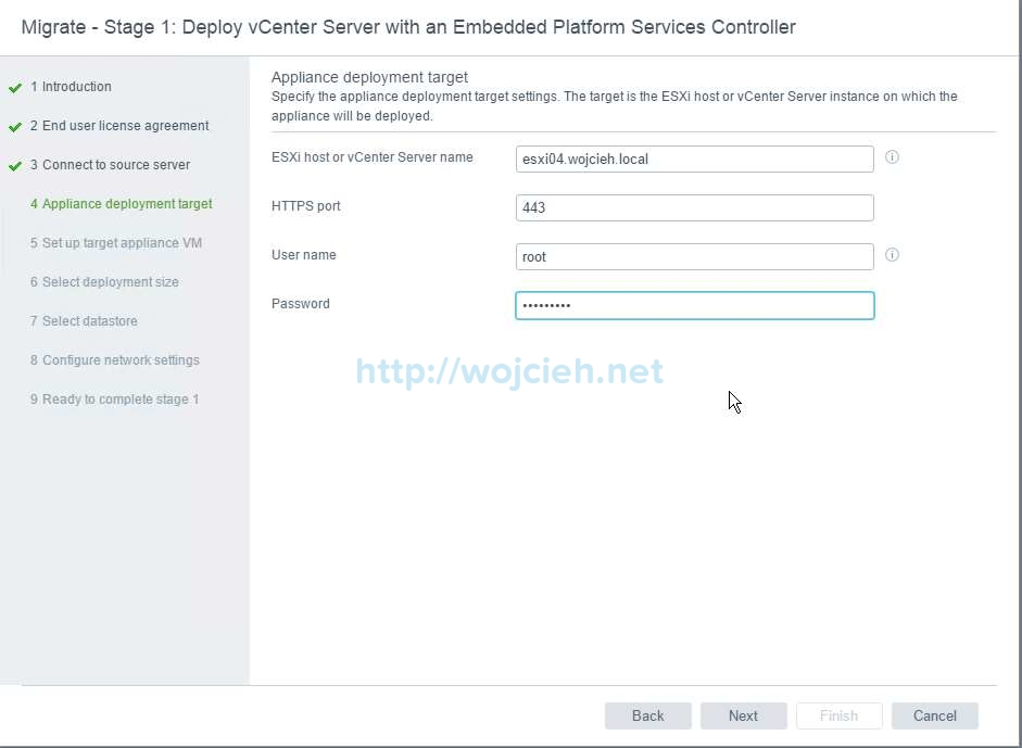 Upgrade of vCenter Server 6.x to vCenter Server 6.5 - 7