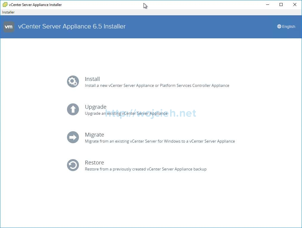 vCenter Server Appliance 6.5 with External Platform Services Controller - 1