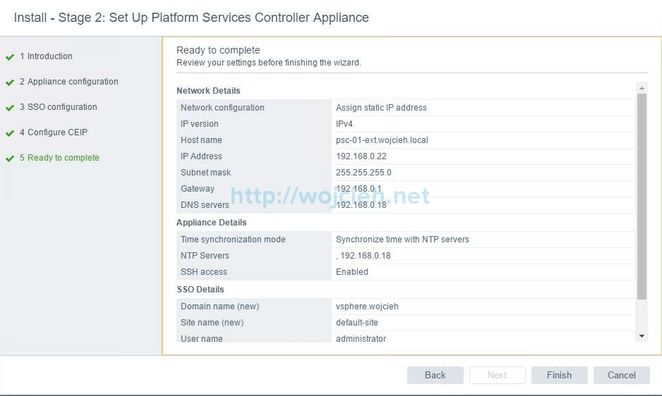 vCenter Server Appliance 6.5 with External Platform Services Controller - 18