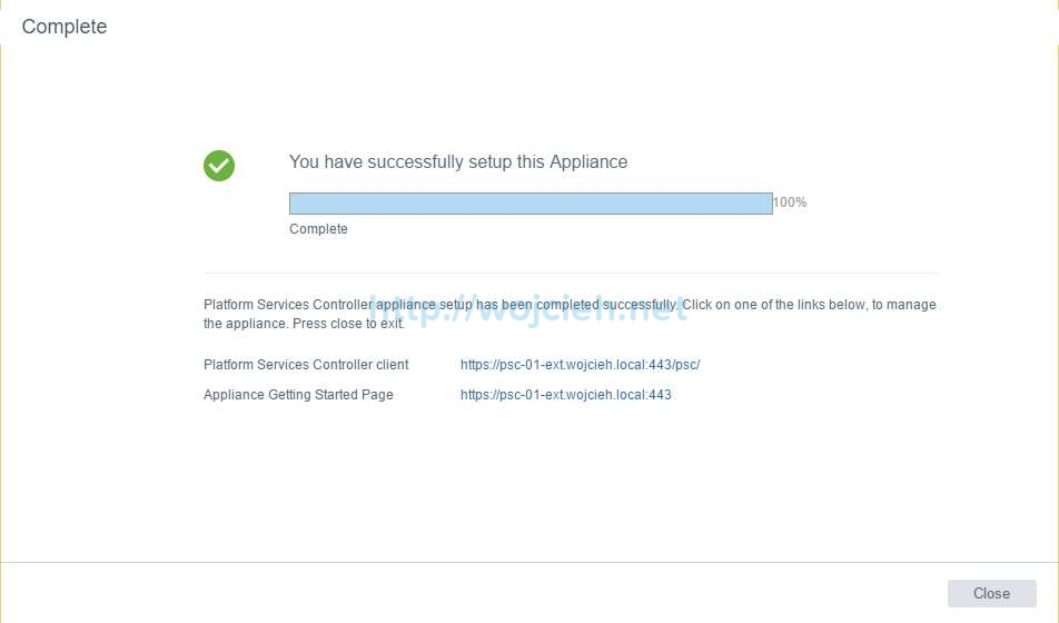 vCenter Server Appliance 6.5 with External Platform Services Controller - 19
