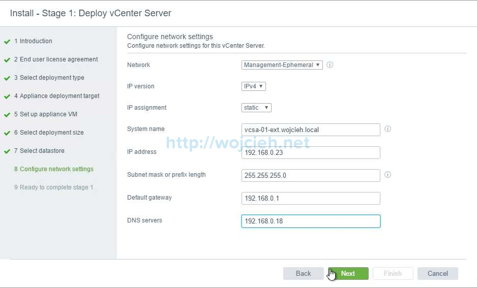 vCenter Server Appliance 6.5 with External Platform Services Controller - 27