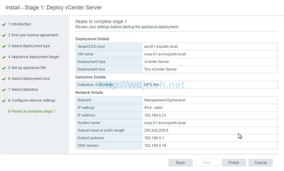 vCenter Server Appliance 6.5 with External Platform Services Controller - 28
