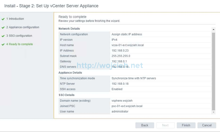 vCenter Server Appliance 6.5 with External Platform Services Controller - 33